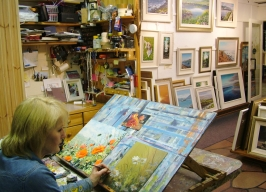 Jane in her gallery